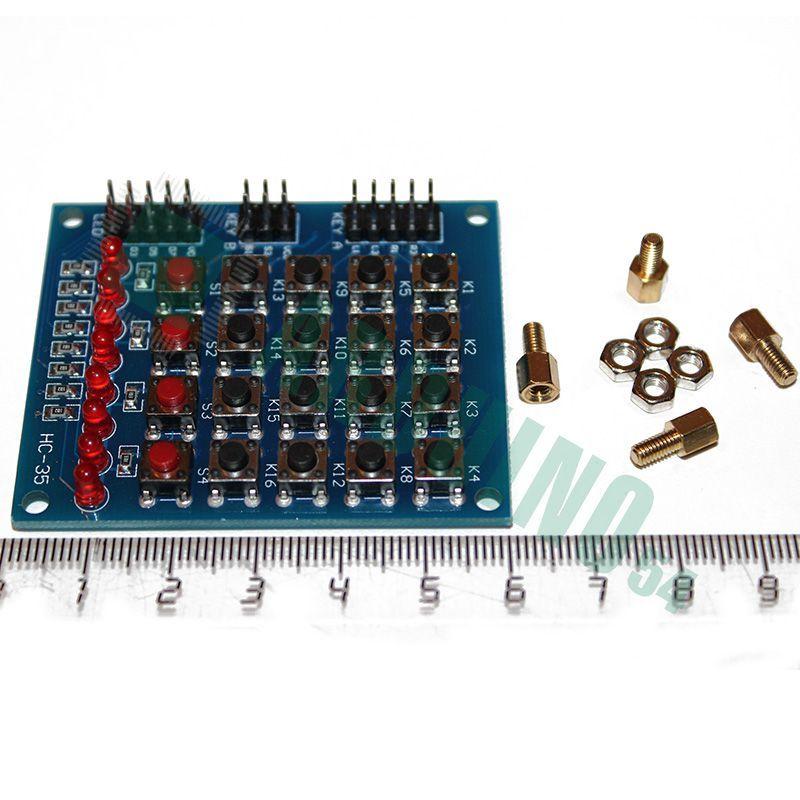 5*4 Матричная клавиатура, 8 светодиодов