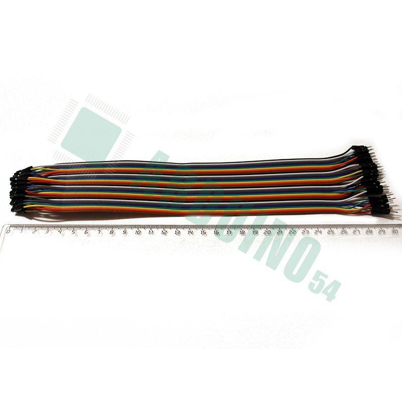 Соединительные провода 30см «п-м»(40шт шлейф)