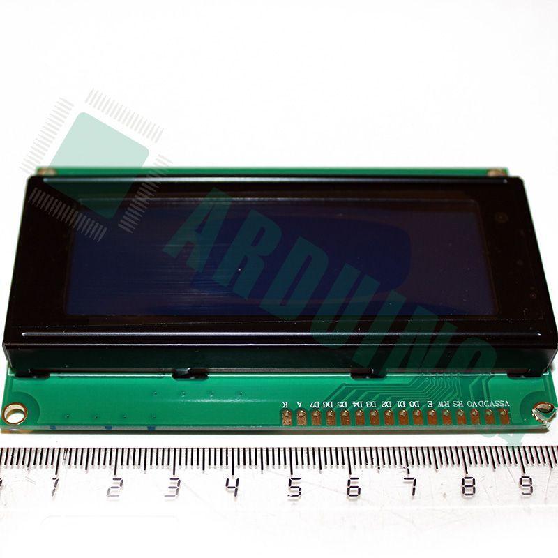 LCD 20×4 2004 дисплей синий