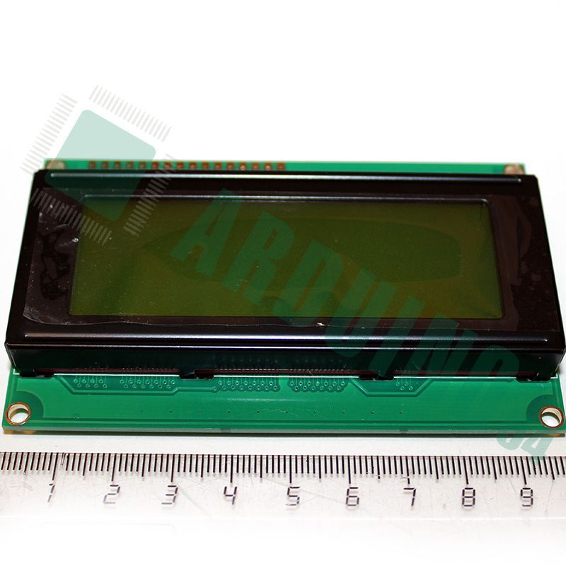 LCD 20×4 2004 дисплей зелёный