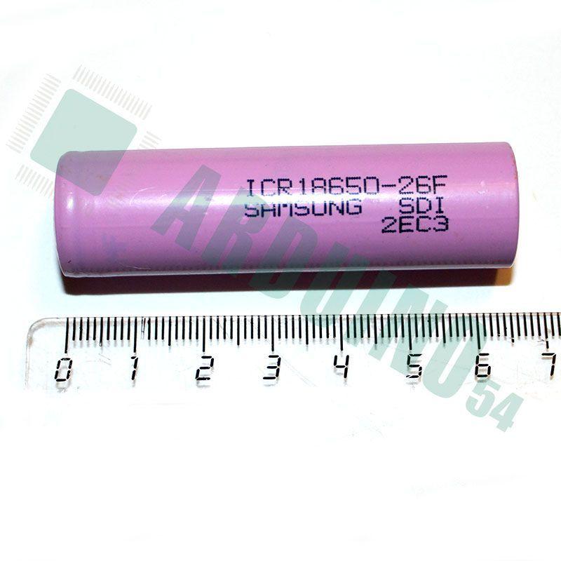 Аккумулятор 18650 Samsung 2600 мАч Li — ion 3.7 В