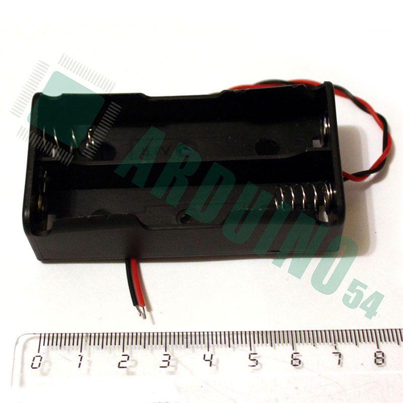 Держатель-бокс для аккумуляторов 2×18650