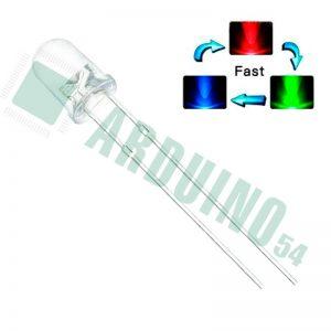 Мигающие РГБ светодиоды 3мм
