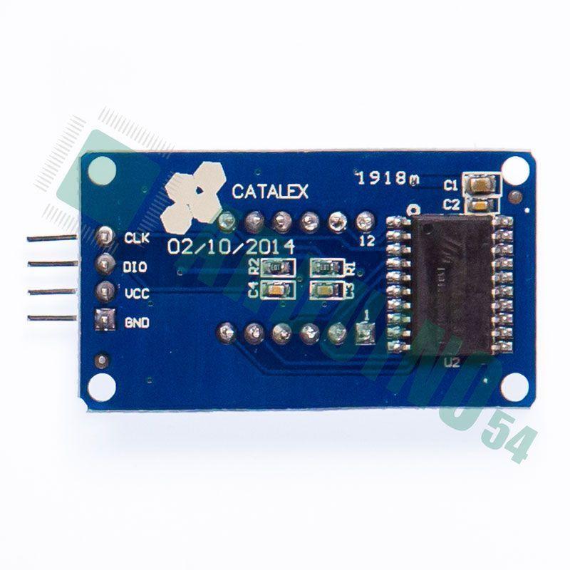 Последовательный 4-разрядный семисегментный LED индикатор с I2C драйвером TM1637