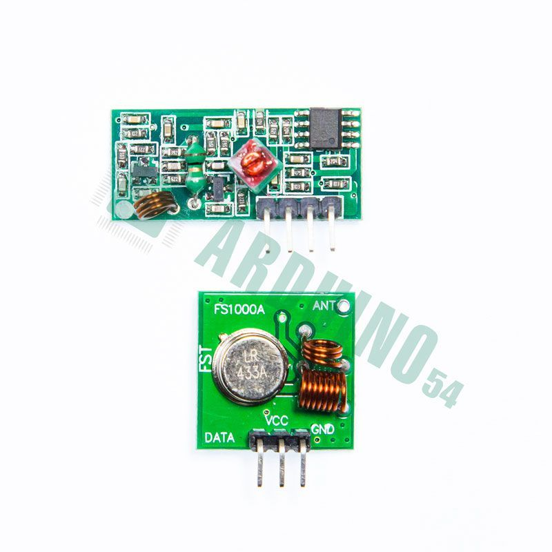 MP433, Комплект беспроводного приемника и передатчика диапазона 433 мГц