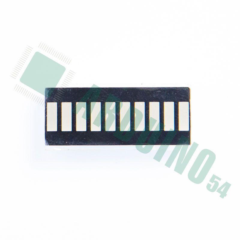 10 сегментная шкала цветная (2R3Y4G1B)