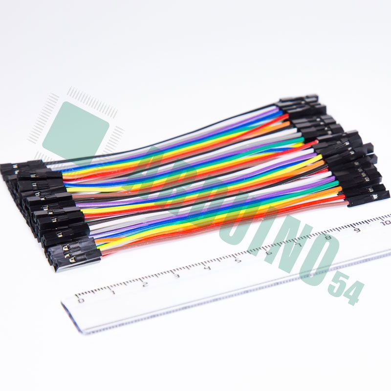 Соединительные провода 10см «м-м» (40 шт. шлейф)