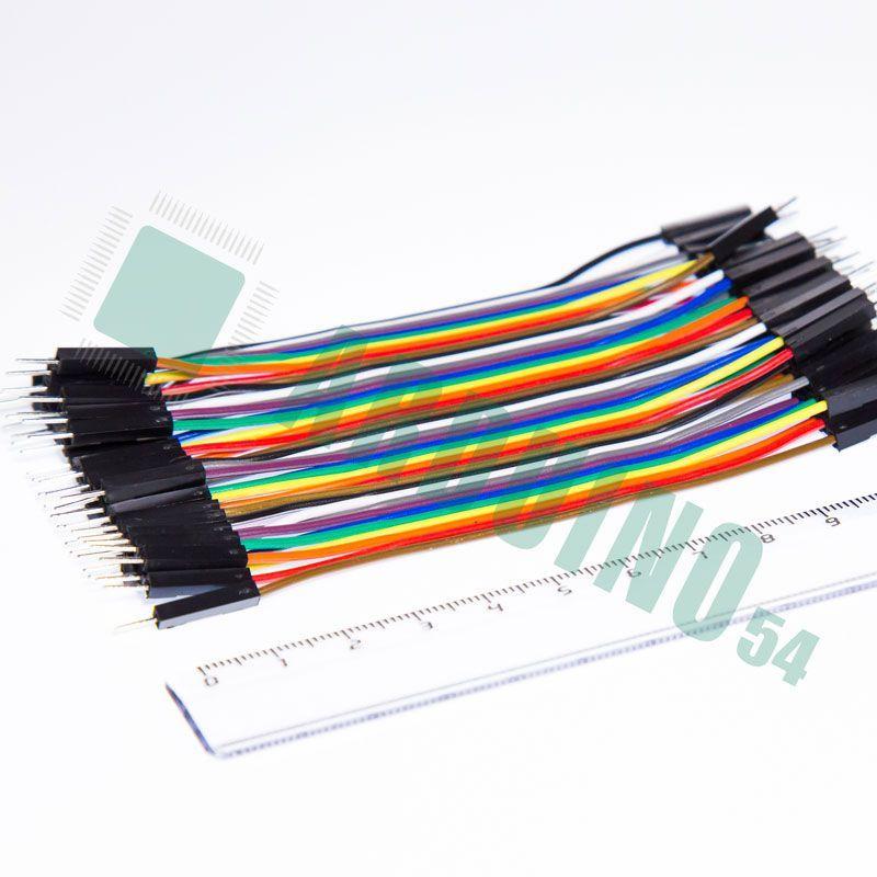 Соединительные провода 10см «п-п» (40 шт. шлейф)