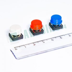 Кнопки с цветными крышечками