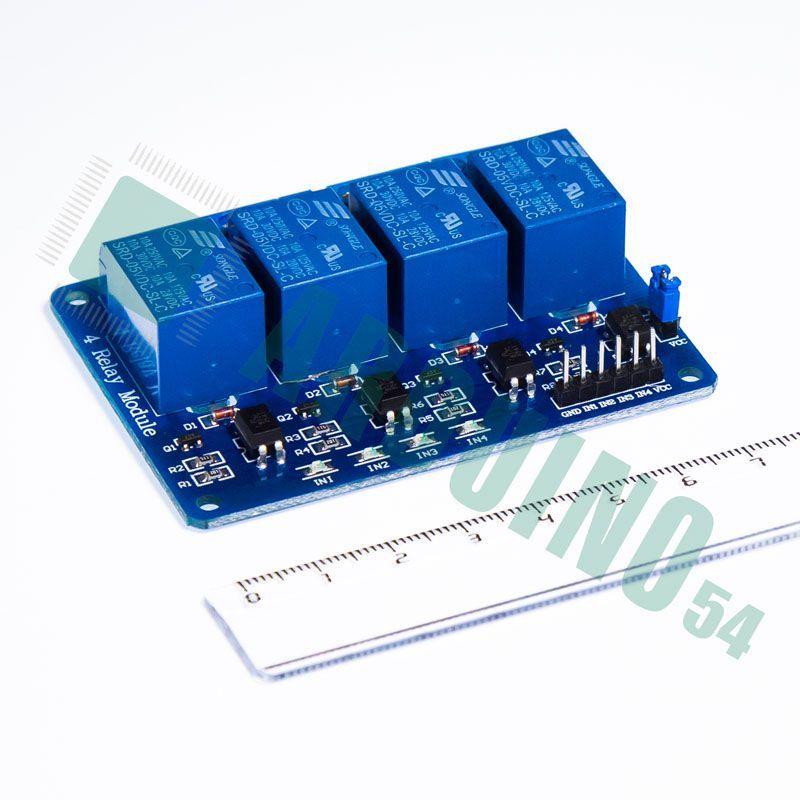Модуль реле 4 канала 5V