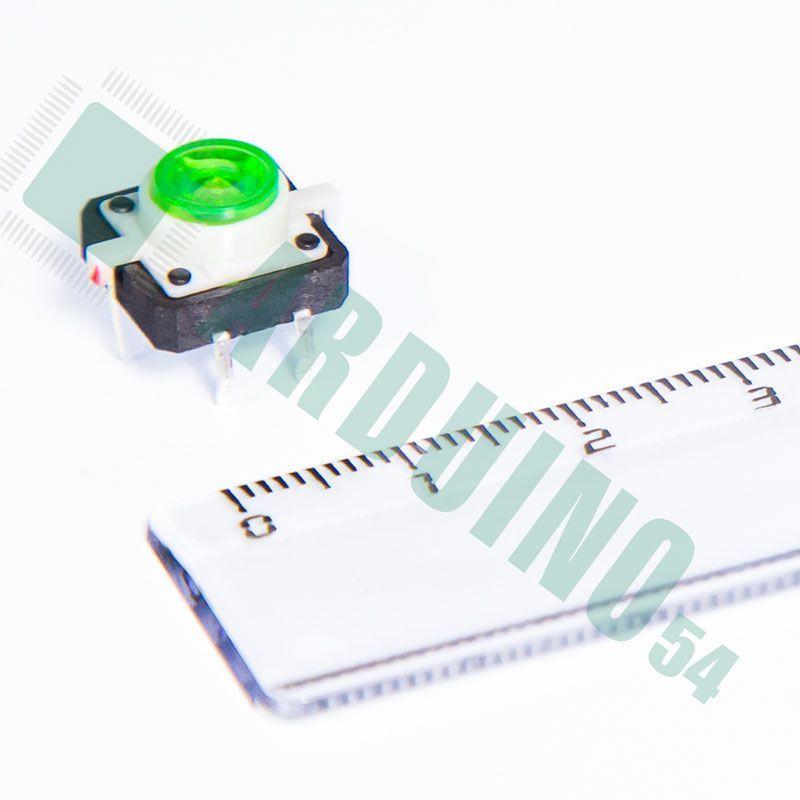 Кнопка светодиодная зелёная