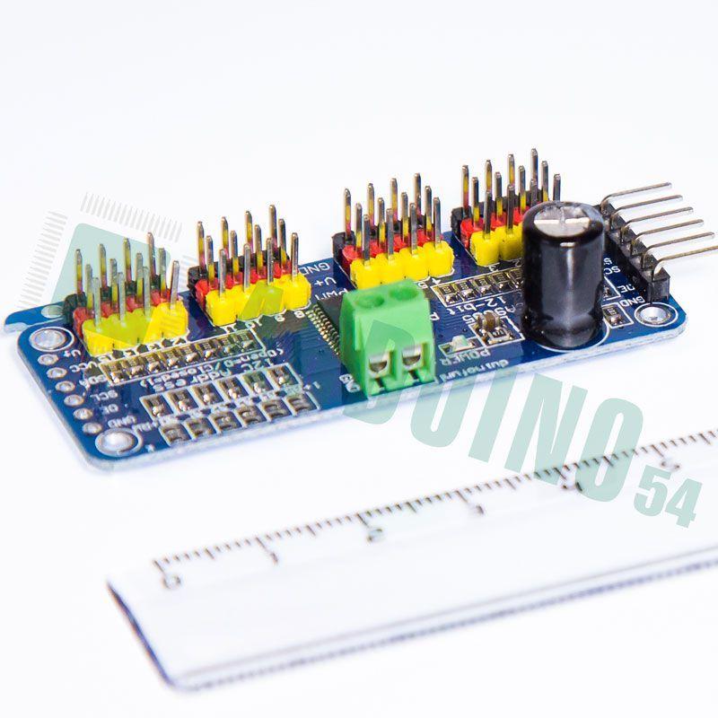PCA9685 16-Channel 12-bit шим серводвигателя I2C для Arduino робота