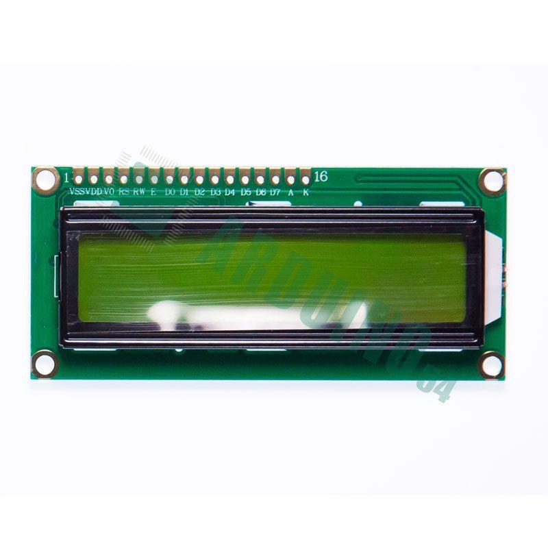 LCD 16×2 1602 дисплей зелёный