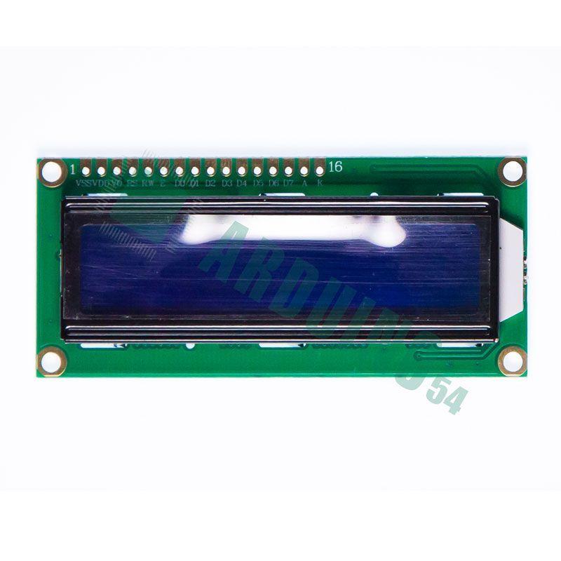LCD 16×2 1602 дисплей синий