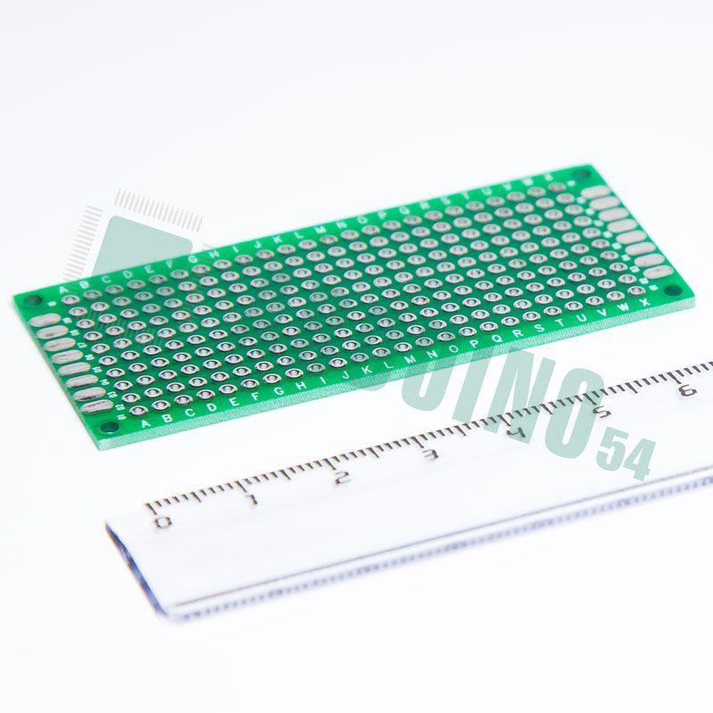 Макетная плата двухсторонняя с металлизацией отверстий (3см*7см)