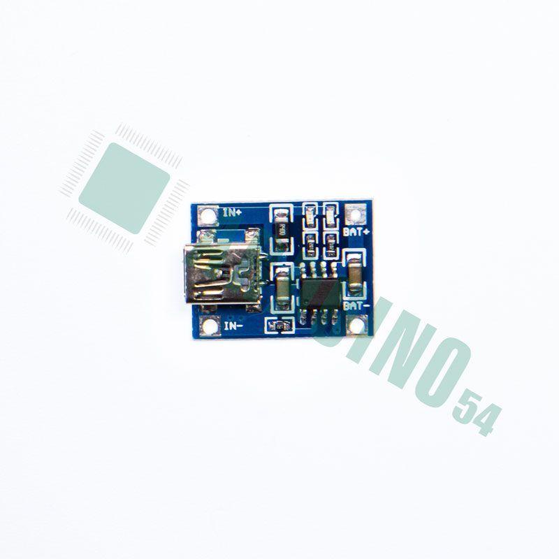 TP4056 Mini USB (для заряда аккумуляторов Li-Pol, Li-Ion)