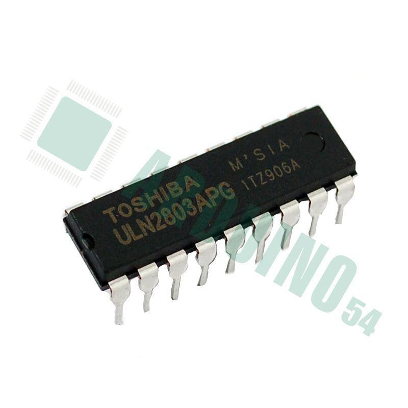 ULN2803A, Транзисторов Дарлингтона 8х, 500мА, 50В, DIP18