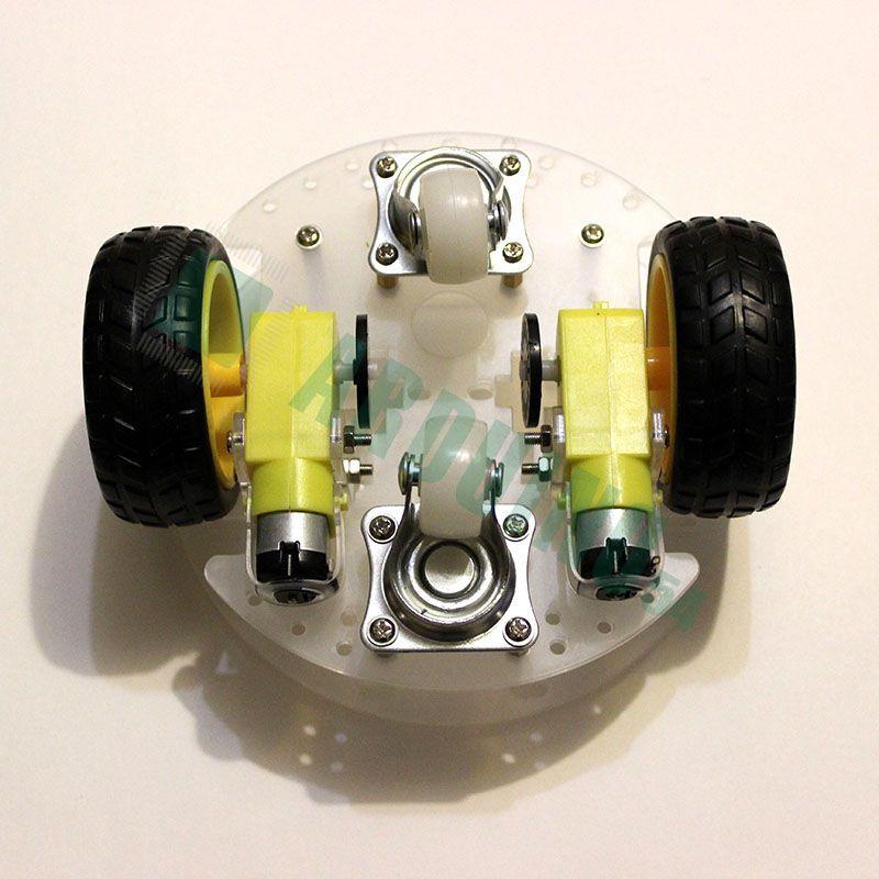 2WD робот на круглой платформе