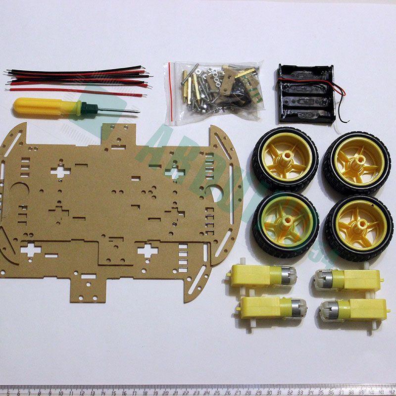 Четырехколесный 4WD робот