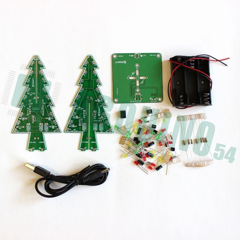 Трёхмерная светодиодная ёлка Kit DIY