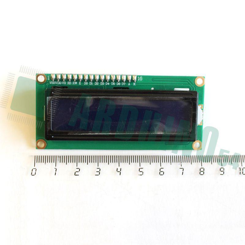 LCD 16×2 1602 дисплей синий + LCD конвертер с IIC/I2C spi