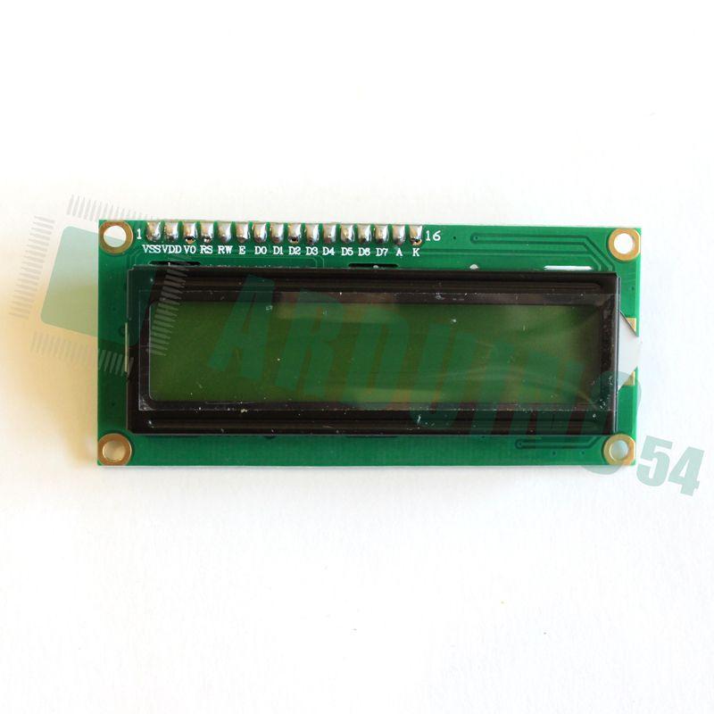 LCD 16×2 1602 дисплей зелёный + LCD конвертор с IIC/I2C spi