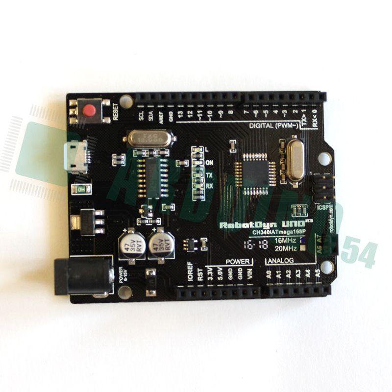 Arduino Uno R3 (ATmega168) c MicroUSB (CH340G) без кабеля