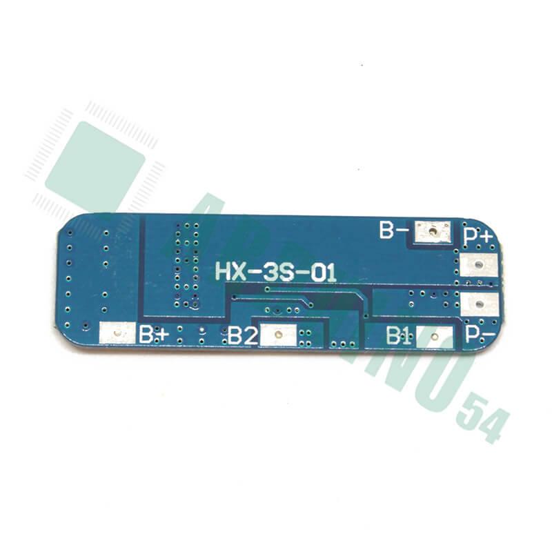 Контроллер заряда разряда PCM 3S 10A 11.1В 12.6В для 3 Li-Ion аккумуляторов 18650