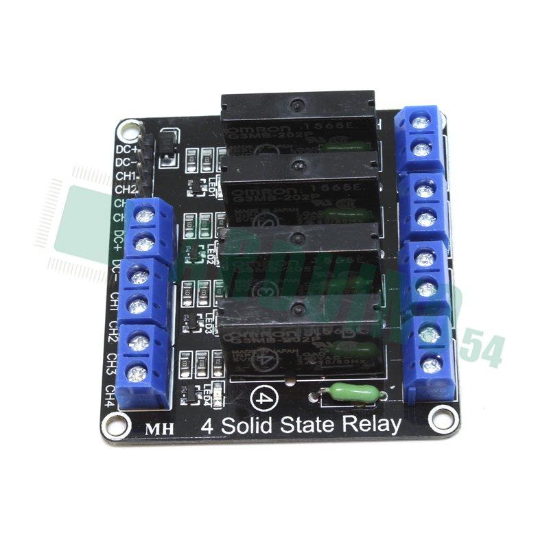 Модуль твердотельного реле 4 канал 5V SSR G3MB-202P 240V 2A