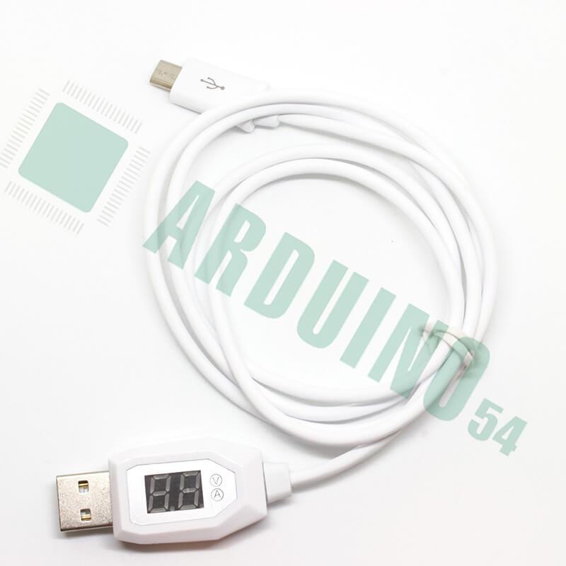 Зарядный провод Micro-USB с вольтметром
