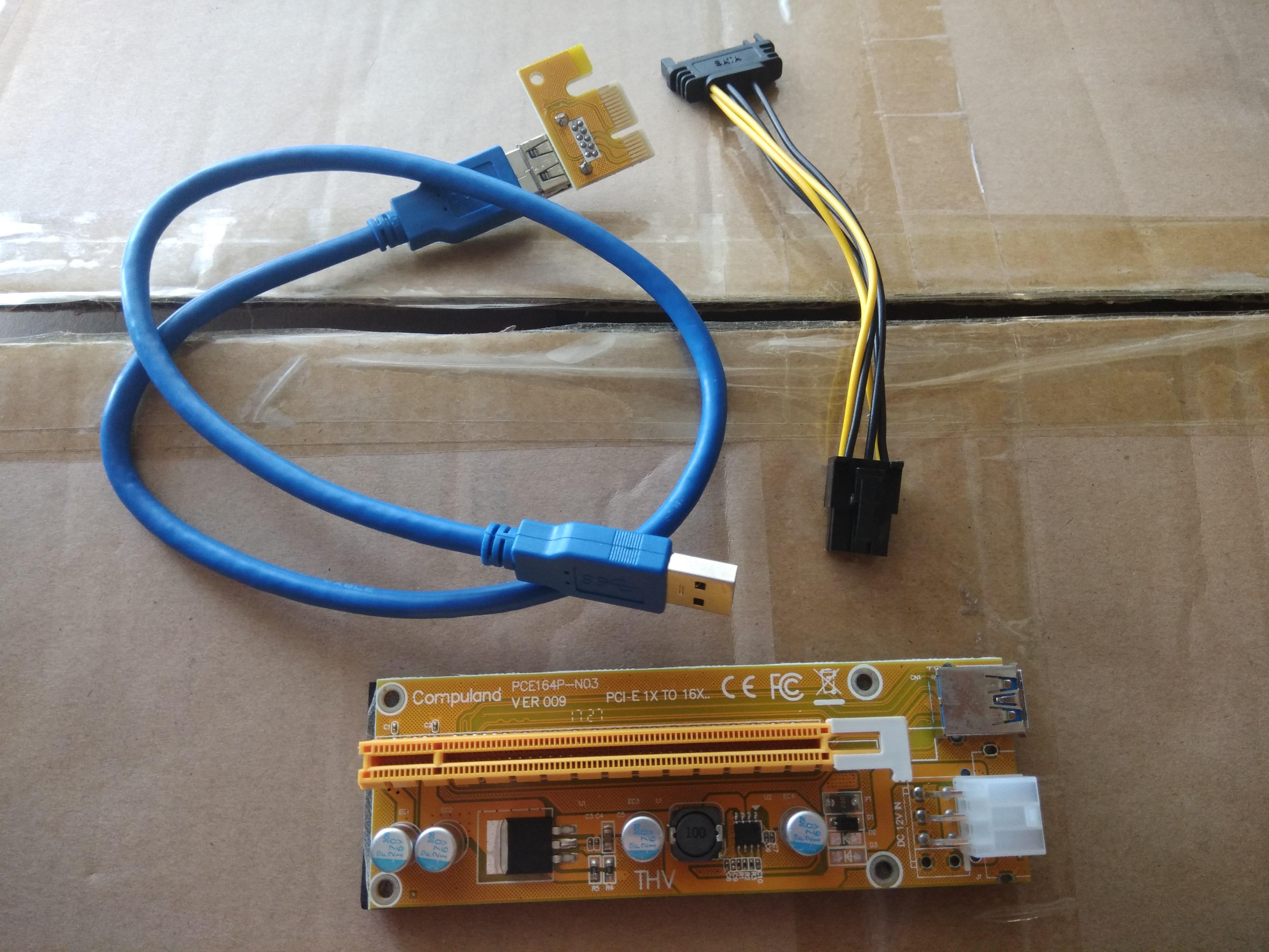 Райзера 6pin ver 009 + кабель usb 3.0 60 см