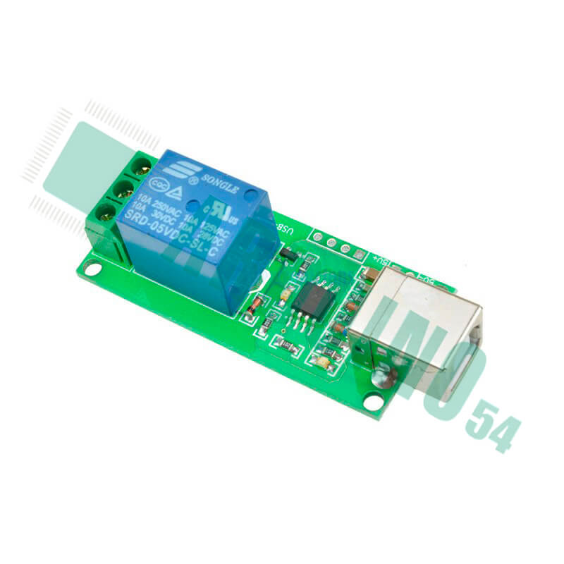 USB реле управление нагрузкой через компьютер на 1 канал