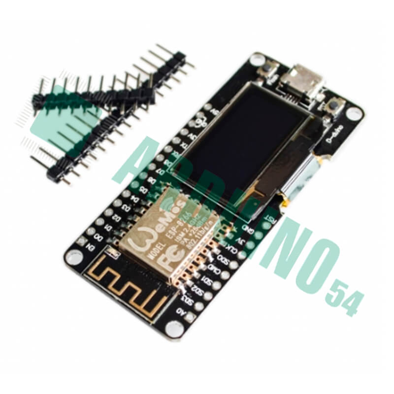 Платформа Wemos ESP32 OLED (NodeMCU wifi ESP8266 ESP-12F 0.96 INCH OLED)