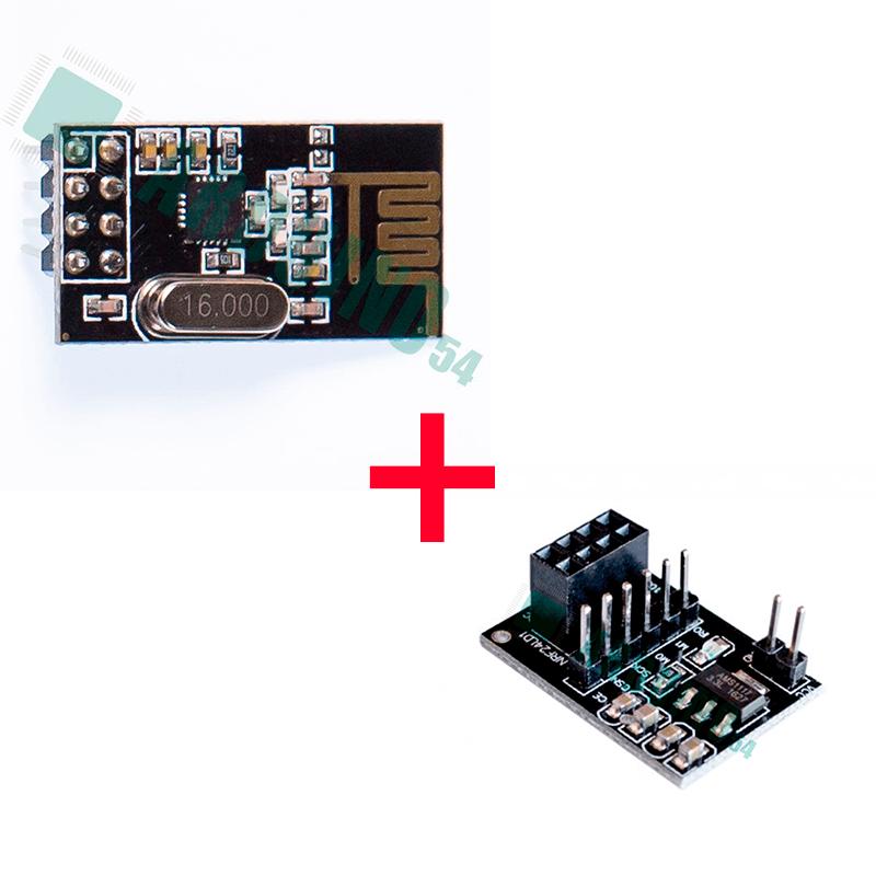 Модуль 2.4G nRF24L01+ с адаптером питания