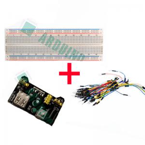 Набор для макетирования (макетная плата, провода, модуль питания 3,3 в, 5 в)