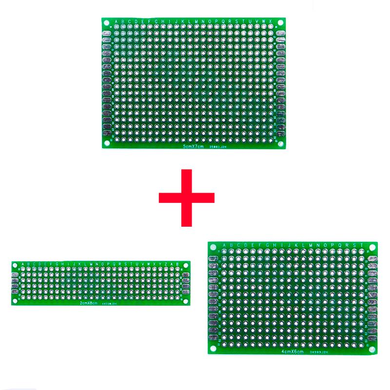 Набор печатных плат 3 шт. 5×7, 4×6, 2×8