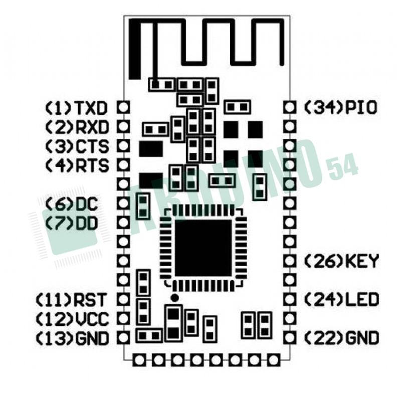 Беспроводной Bluetooth модуль HC-08 (CC2540)