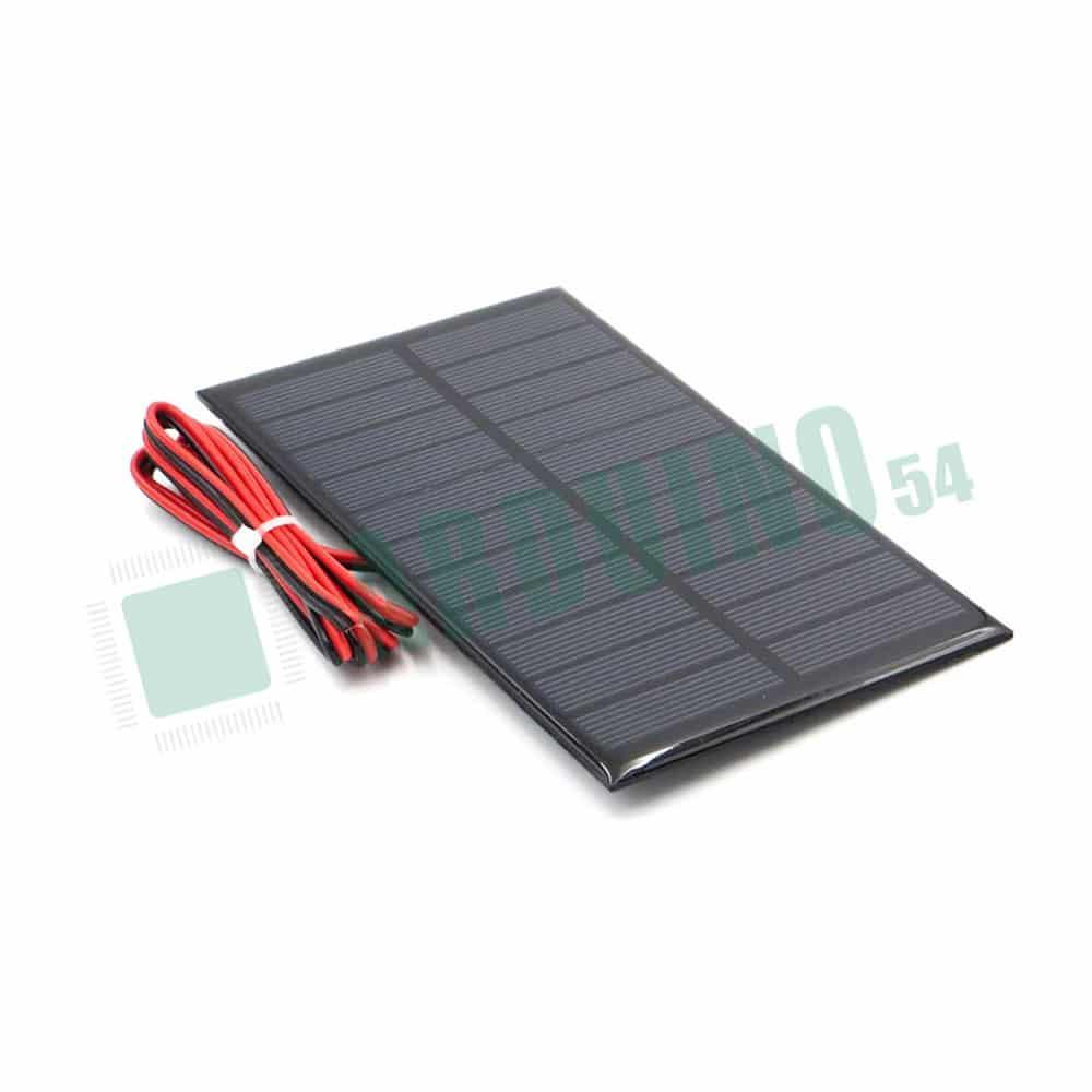 Солнечный элемент с проводом —  5V 200mA — 100мм * 70мм