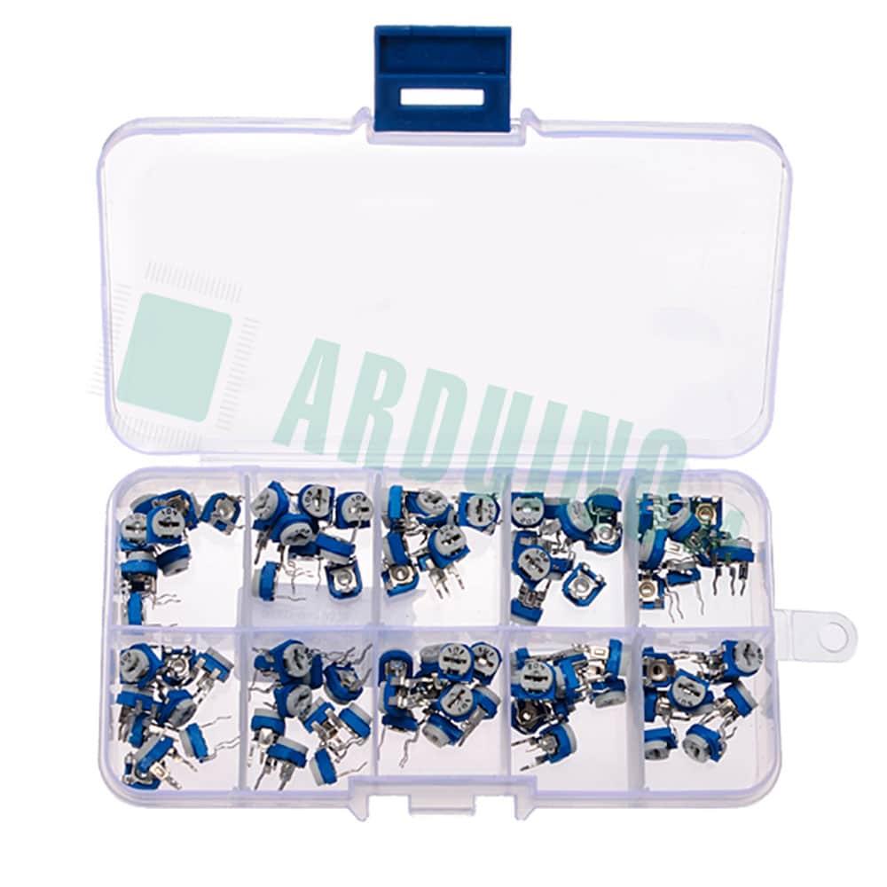 RM065 Набор потенциометров, переменных резисторов, 10 значений, 100шт.