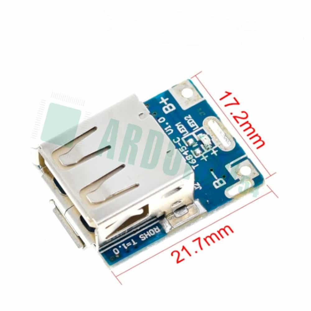 Модуль Powerbank заряда LiPo с USB, повышающий преобразователь напряжения 134N3P