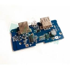 Модуль Powerbank заряда LiPo с двумя USB, от 3.7V до 5V2A