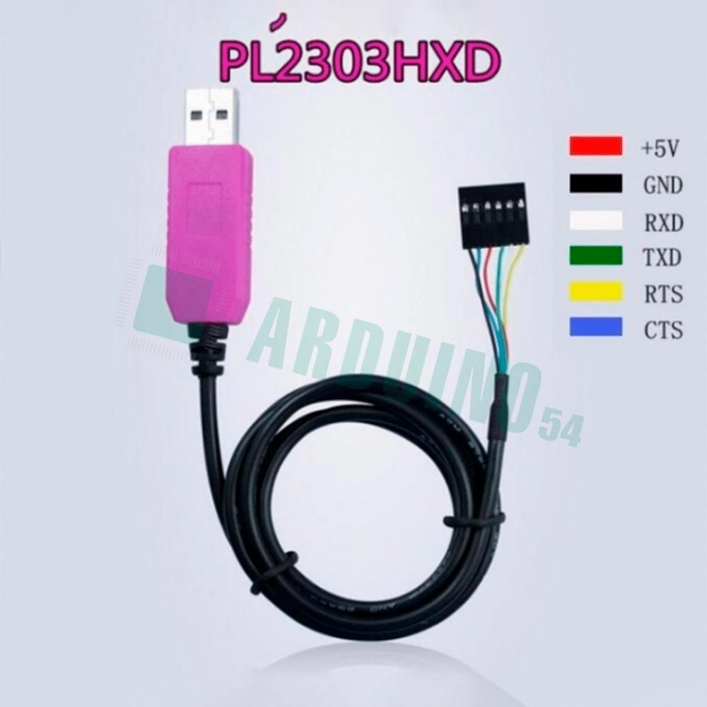 Кабель RS232 (USB к UART TTL) 6 пинов, PL2303HXD