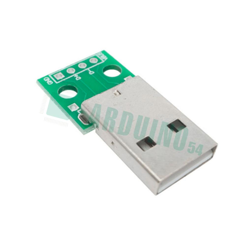 Переходник USB A Male на DIP (4 Pin)