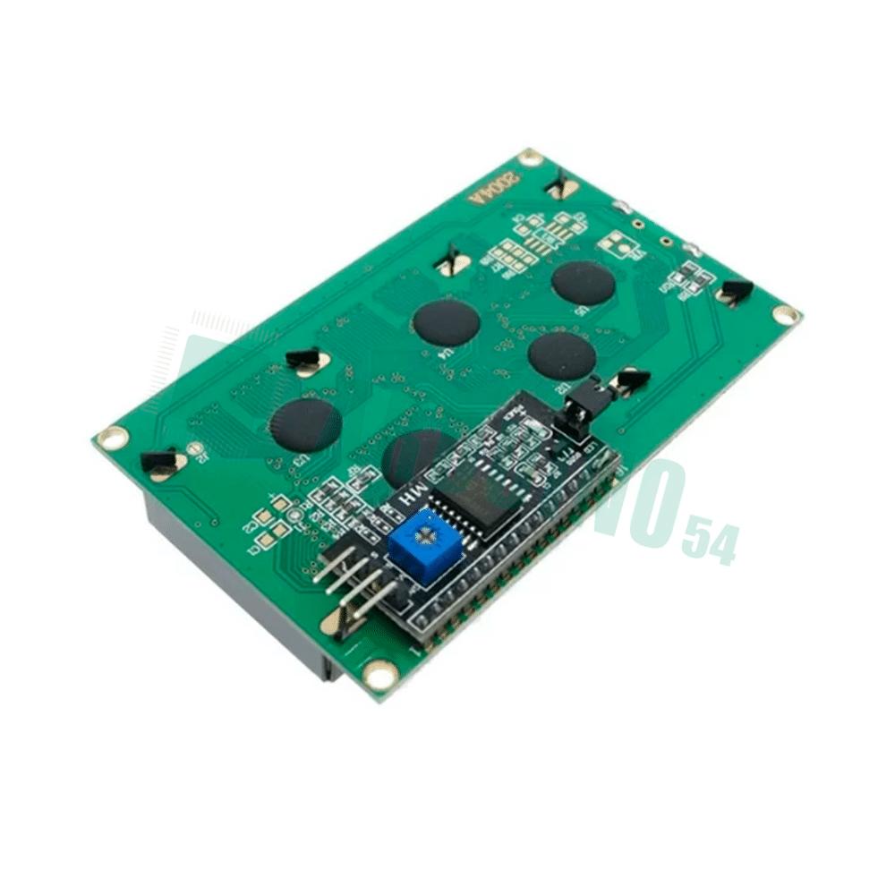 LCD  20×4 2004 дисплей зелёный + LCD конвертор с IIC/I2C spi