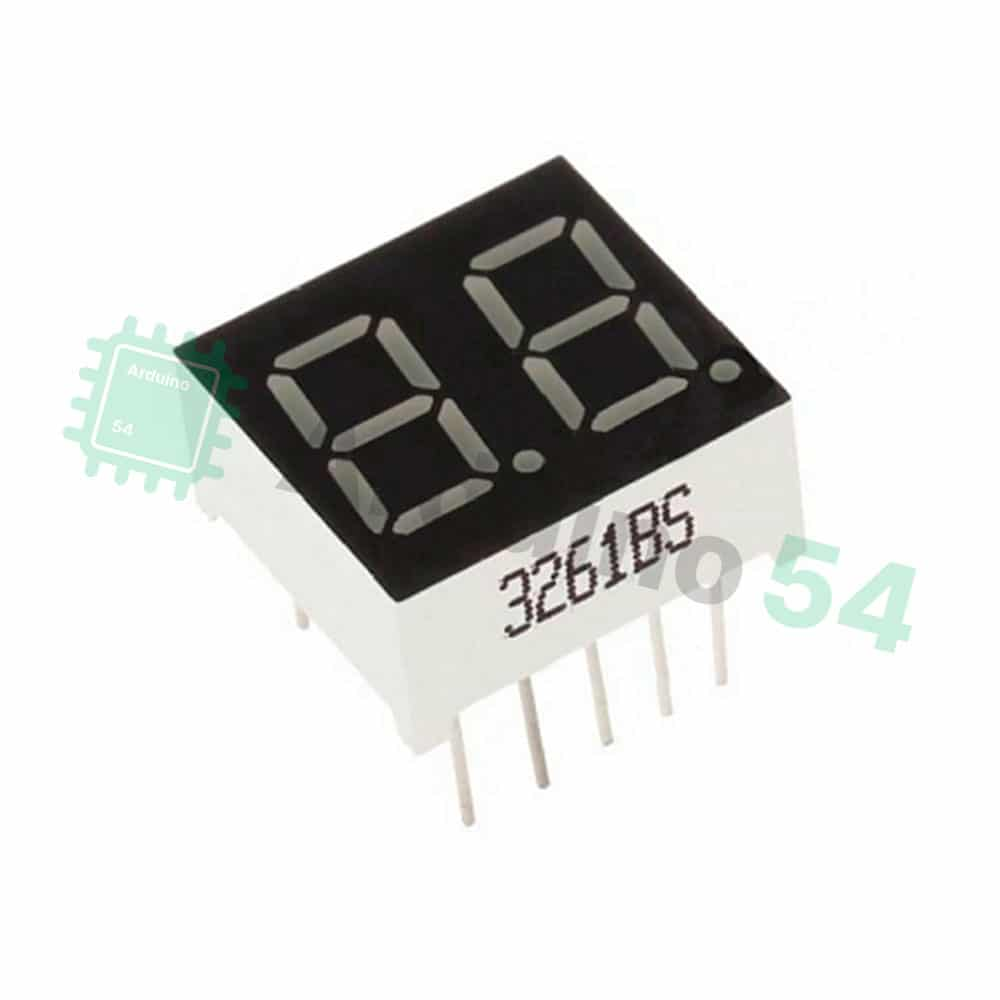 Сегментный индикатор 0.36″, 2 разряда, красный, ОА, 3261BS