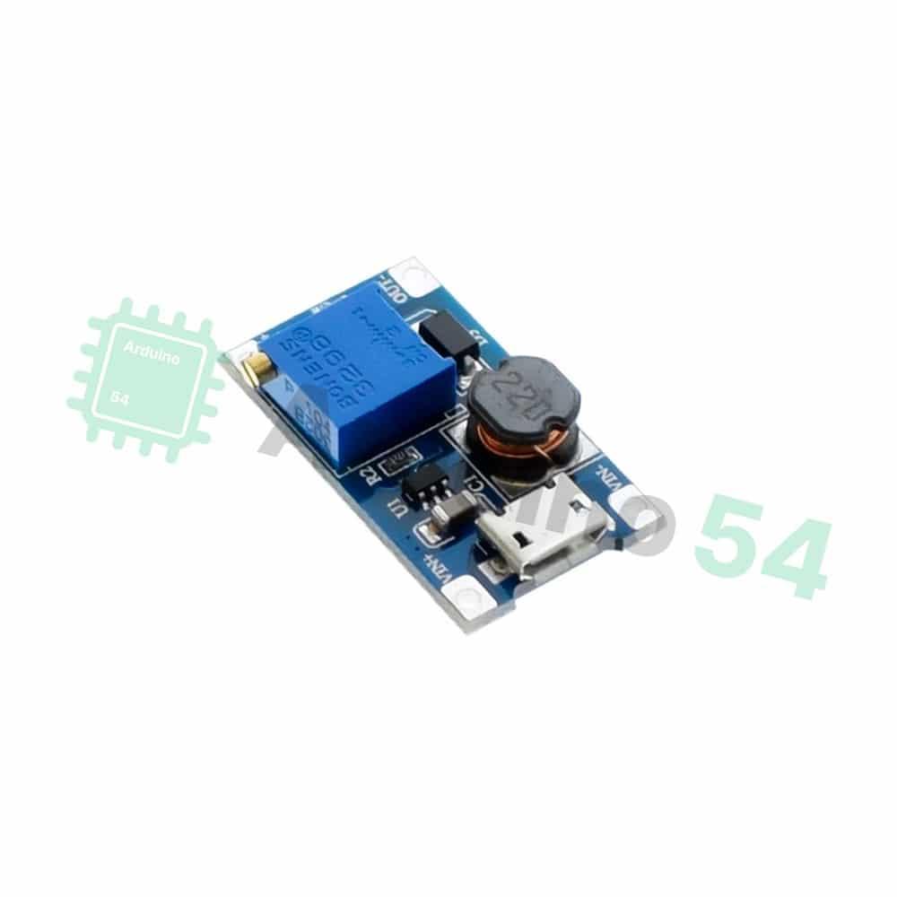 Преобразователь DC-DC MT3608 повышающий с MicroUSB