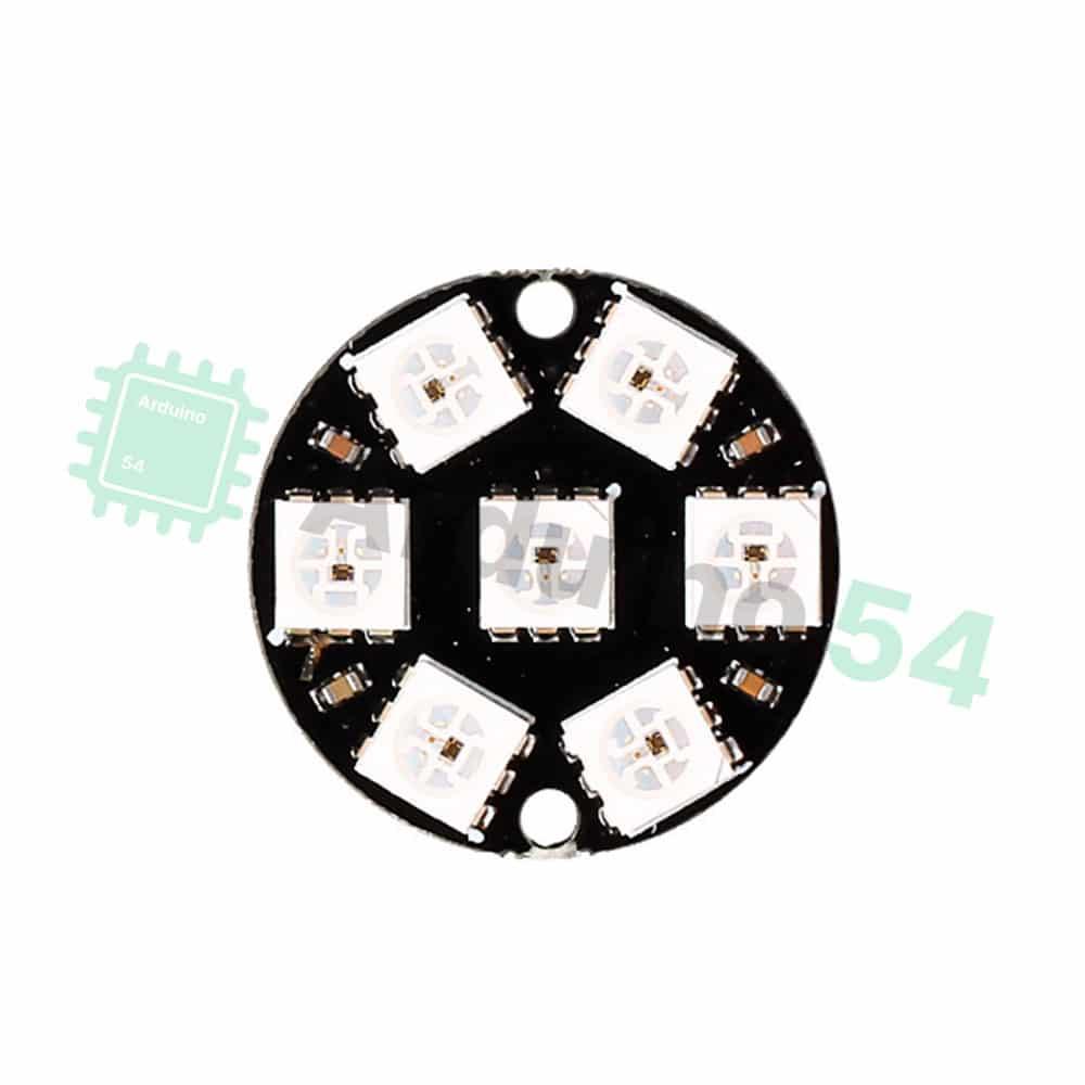 Модуль из 7 RGB светодиодов WS2812 (круг)
