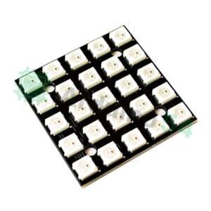 Модуль из 25 RGB светодиодов WS2812 5x5 (квадрат)