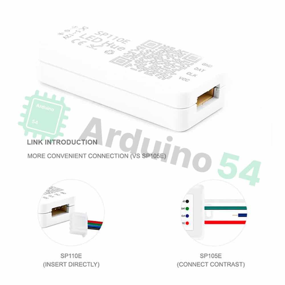 Контроллер SP110E, 1024pix, 5-12В, управление по Bluetooth