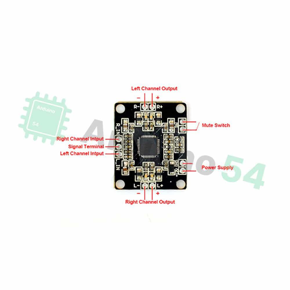 Усилитель звука PAM8610 2х15Вт (класс D)